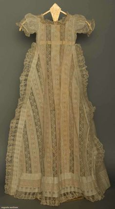 Val Lace Christening Gown, 1880-1890.