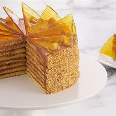 Try this Dobos Torte recipe by Chef Anna Olson. This recipe is from the show Bake With Anna.