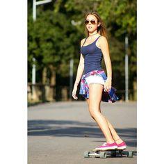 Ibira #longboardinggirls #skategirl #ibirapuera by stylepictures