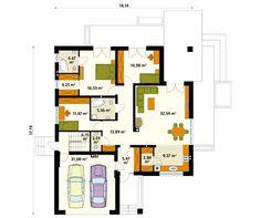 Projekt domu Ariel 3 - rzut parteru