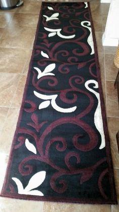 Modern Long Runner Rug Black Design #525(31in X14ft5in) emirates http://smile.amazon.com/dp/B00IEE8G82/ref=cm_sw_r_pi_dp_WGQlvb0R8P35D