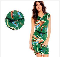 Hot sale fashion printing sleeveless mini dress