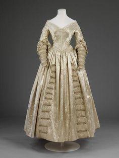 victoria & albert museum wedding fashions | Wedding dress, British, 1841. Photo: Victoria and Albert Museum ...