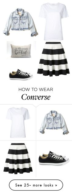 """""""Isaiah 53 : 5"""" by coomer on Polyvore featuring Astraet, Hollister Co., Akris Punto and Converse"""