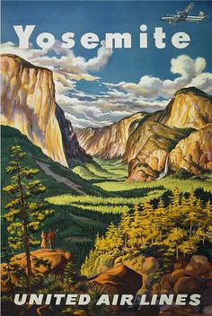 Vintage Travel Poster, Yosemite National Park, California (pinned by haw-creek.com)