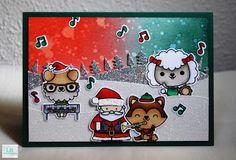 Christmas cards 2016 #5 | Mama Elephant #mamaelephant #rockandpaws #christmas #santa #distressinks #copic #cardmaking #crative #lbcardcreations #handmade #christmas2016