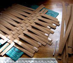 woven cork board. Idea - weave cardboard?