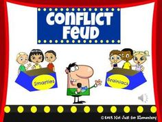 Conflict Feud Powerpoint Game - fun activity before or after your lesson on types of conflict (man vs. man, nature, society, self, & nature)