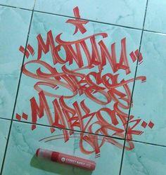 """307 Me gusta, 13 comentarios - REA$ (@riskireas) en Instagram: """"MONTANA STREET MARKER…"""" Graffiti Writing, Graffiti Tagging, Graffiti Alphabet, Graffiti Lettering, Street Art Graffiti, Font Tag, Tagging Letters, Marker Art, Artsy Fartsy"""