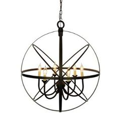 View the Miseno MLIT155241 6-Light Cage Orb Chandelier at LightingDirect.com.