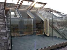 Simple Dormer Loft Conversion - The Urban Interior Simple . Simple Dormer Loft Conversion – The Urban Interior Simple Dormer Loft Conve Loft Conversion Balcony, Dormer Loft Conversion, Bungalow Loft Conversion, Loft Conversions, Attic Renovation, Attic Remodel, Railing Design, Roof Design, Roof Balcony