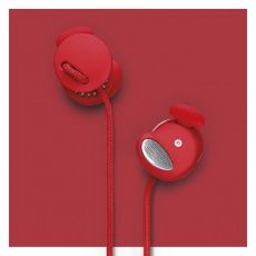 Urbanears Medis Plus Headphones in Tomato. Medis Plus is designed specifically for use with Apple devices and feature volume control on the Mic and Remote.