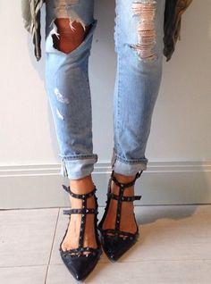 Tash Sefton - destroyed jeans and Valentino