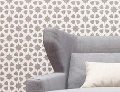 Wall stencil- Modern Interior Decor Wall Stencil - Seamless Pattern Wall Stencil