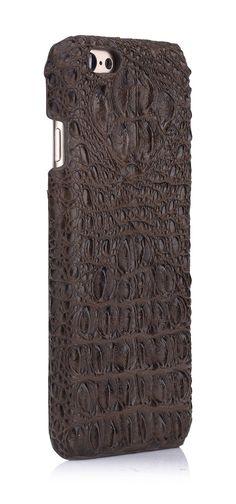 Amazon.com: iCASEIT Genuine Leather iPhone Case - Genuine, Unique & Premium for iPhone 6 - Crocodile Head Pattern - AMETHY: Cell Phones & Accessories