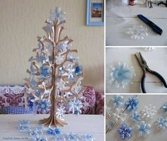 How to make pretty christmas tree with plastic bottles step by step DIY tutorial instructions, How to, how to do, diy instructions, crafts, do it yourself, diy website, art project ideas