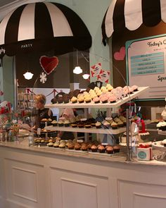 Trophy Cupcakes and Party: Martha's Favorite Cupcake Bakeries  Seattle's Trophy Cupcakes and Party is decorated with heavy inspiration from a 1940s bakery, and its decor for the cupcakes is similarly vintage-inspired. The bakery has two locations in Seattle, at 1815 N. 45th St., Suite 209, and 2612 NE Village Lane.