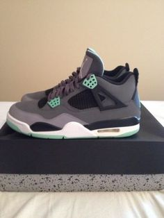 6b13951a1739b Jordan Retro 4 Green Glow – Nike – Mens  Sneakers