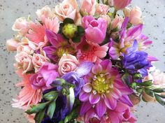 Pretty in Pink | Simply Beautiful Weddings & Events Bridal, bridesmaids bouquet