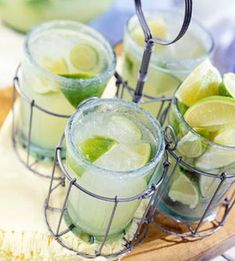 To transform this brisk lime-flavored mojito (moh-hee-toe) into a margarita, substitute tequila for the rum and serve in a salt-rimmed glass.