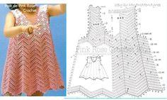 Robes bébés au crochet , modèles et grilles à imprimer !
