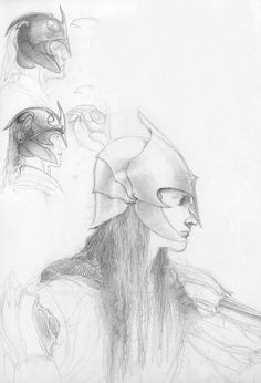 Elves by Alan Lee in The Lord of the Rings Sketchbook, got this book!