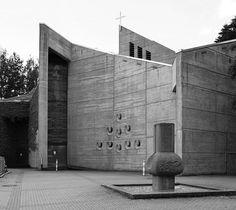 Auferstehungskirche (1969-71) in Sailauf, Germany, by Emil Mai. Demolished in 2009.