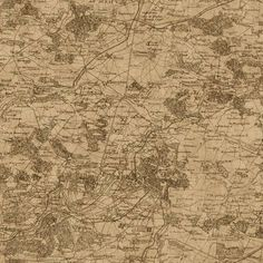Wallpaper Old World Vintage French Map Sephia Brown and Tan #Unbranded