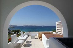 A suite with plunge pool in Mykonos