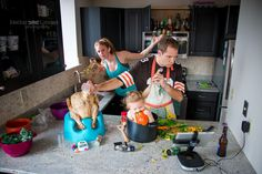 Photographer Danielle Guenther Captures Family Portraits Emphasizing the Truly Hectic Experience of Raising Children