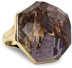 Ippolita 18k Large Bronze Amethyst Ring, Size 7