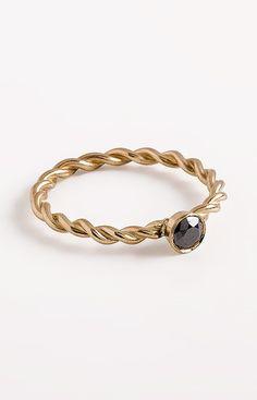 Black diamond ring diamond solitaire ring anniversary by springit