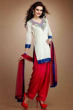 ethnic-punjabi-patiala-blue-pink-and-white-shalwar-2015