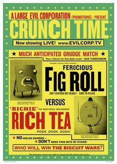 Fig Rolls, Grudge Match, Rich Tea, Biscuit, Promotion, Interesting Stuff, Tv, Nice, Illustration