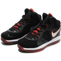 http://www.asneakers4u.com/ Nike Zoom LeBron 8 VIII  Black/White/Varisty Red