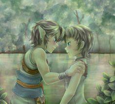 Link and Ilia. Don't ship it but nice fanart.