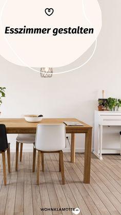 Die Gestaltung des Essbereichs beginnt mit der Grundausstattung des Raums und setzt sich mit der Auswahl der Esszimmermöbel fort. Mit geschickt platzierten Lichtquellen und einer passenden Dekoration schaffst Du ein behagliches Ambiente – hier bekommst Du hilfreiche Inspirationen. Dining Bench, Dining Chairs, Inspiration, Furniture, Home Decor, Table, Homes, Essen, Dekoration