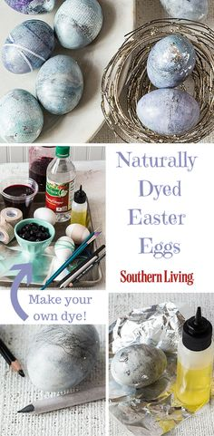Naturally Dyed Easter Eggs | Upgrade your Easter egg game with these luxe-looking (but secretly simple!) marbled eggs.