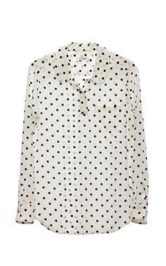 Retro polka blouse
