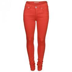 Victoria Beckham Power Skinny Jean Poppy | GarmentQuarter
