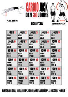 défi 30 jours cardio jack - HOLIFIT | Coach sportif : HIIT, Conseil musculation…