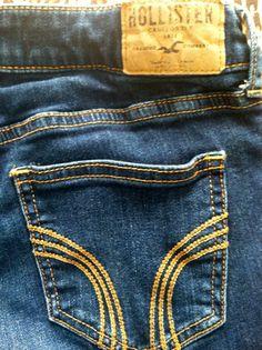 HOLLISTER Dark Wash Boot Cut Flare Jeans - Size 1 W25 - $9.99