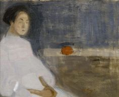 Seated Woman in White Dress, Helene Schjerfbeck - Cd Paintings Art Gallery, Female Painters, Painter, Painting, Female Art, Art, Schjerfbeck, Artwork Painting, Art Themes