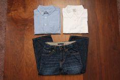 3 3T Boy LOT BabyGap Crewcuts Old Navy Button Down Jeans NWT Blue White Striped #babyGap #DressyEverydayHoliday