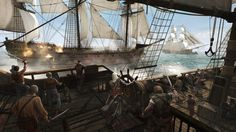 Naval Battle - Assassin's Creed 4 - http://1sthdwallpapers.com/naval-battle-assassins-creed-4-hd-wallpapers/