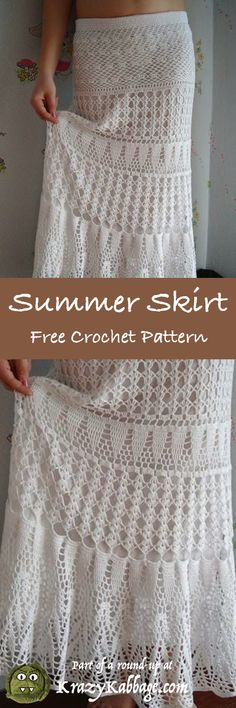 Latest Crochet Summer Dresses on Lace Crochet Wedding Dresses For Sale without Fashion Dress Sketches Images while Crochet Baby Dress Free Pattern For Beginners time Free Crochet Patterns For Newborn Baby Girl Dresses Crochet Summer Dresses, Summer Dress Patterns, Crochet Skirts, Crochet Clothes, Crochet Outfits, Pull Crochet, Mode Crochet, Knit Crochet, Crochet Tops