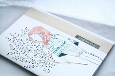 Eco-friendly Hand Illustrated OOAK Notebook