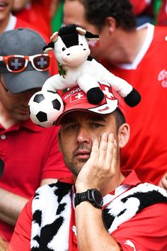 #EURO2016 Fans Switzerland during the European Championship match Round of 16 between Switzerland and Poland at Stade GeoffroyGuichard on June 25 2016 in...
