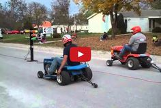 Epic Lawnmower Drag Races