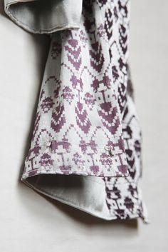Hand dyed and screen printed scarf by Liucija Dervinyte